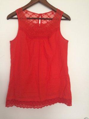 Rote ärmellose Bluse von Promod