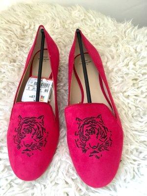 Rote Ballerinas Schuhe von Zara