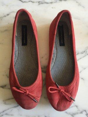 Rote Ballerinas von Tommy Hilfiger