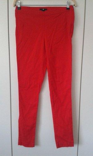 H&M Pantalone a sigaretta rosso Cotone