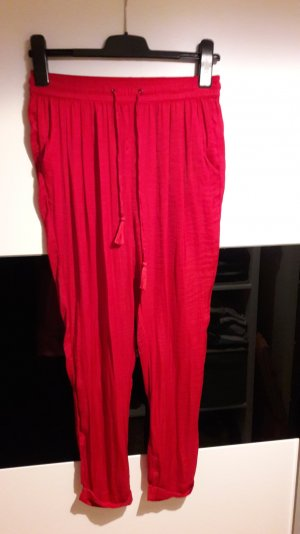 Rote bequeme Stoffhose