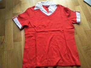 Biaggini Blouse Collar white-red