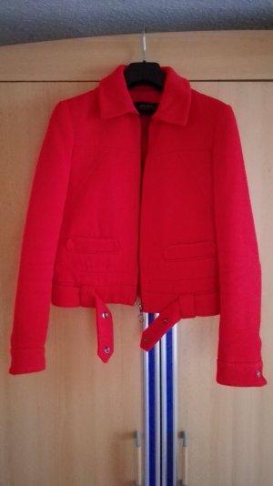 Rote Bikerjacke Blazer von Zara Größe 34 xs