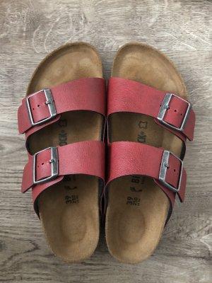 Birkenstock Comfort Sandals red leather