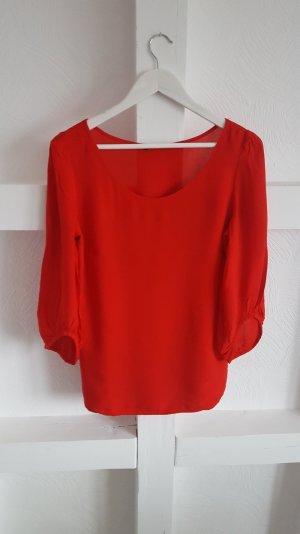 Rote Bluse 3/4 Ärmel ZERO Gr. 36
