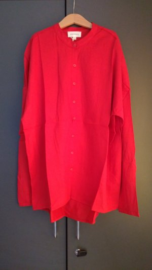 armedangels Oversized Blouse red viscose