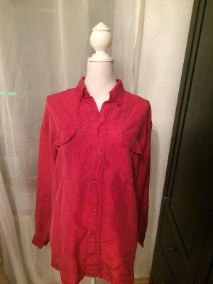 Rote Bluse aus 100% Seide Vintage 36 38 S Maxi