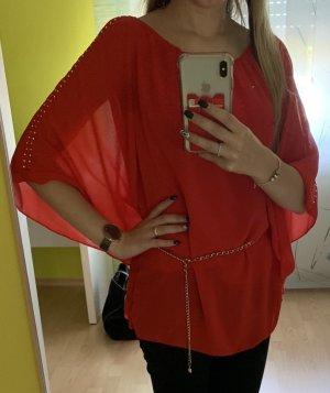 Blusa tipo kimono rojo