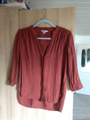 H&M Blouse en lin rouge brique
