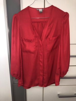 H&M Blouse brillante rouge