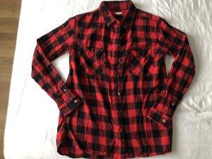 SCOUT Camisa de leñador negro-rojo