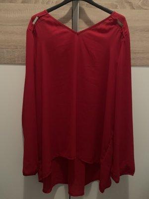 Canda Silk Blouse dark red