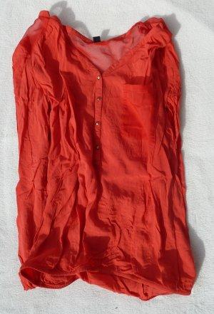 Rote Bluse leicht golden luftig sexy