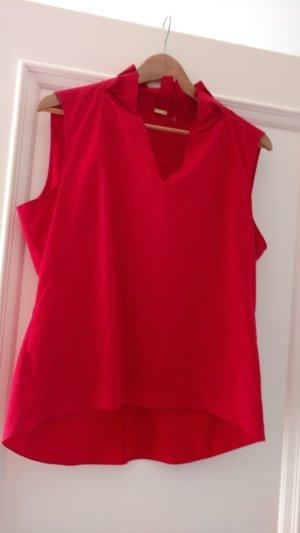 Rote Bluse mit V-Ausschnitt von Elie Tahari, Gr 40/42