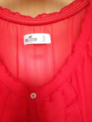 rote Bluse von Hollister
