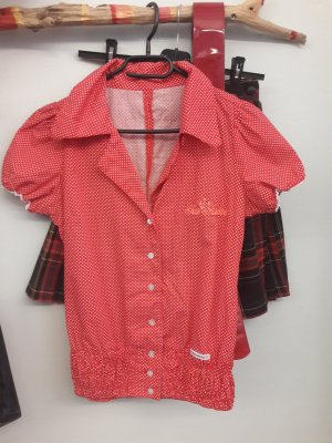 Blutsgeschwister Shirt Blouse red-white