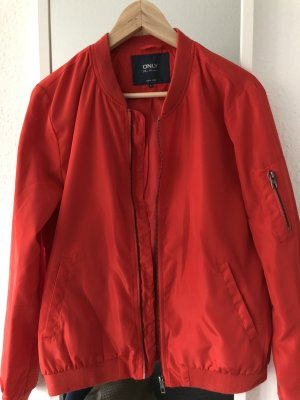 Only Bomber Jacket red polyester