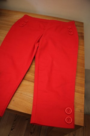 Collectif Capris red cotton