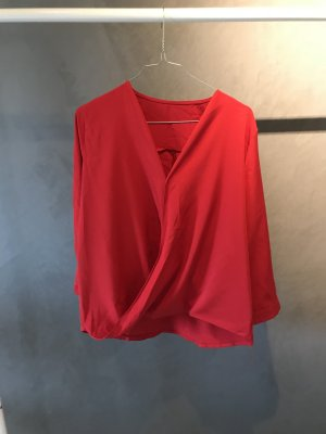Wraparound Blouse red-brick red