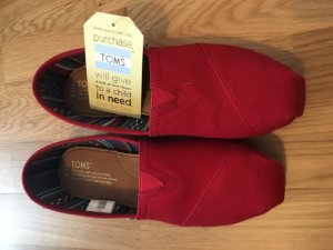 Rote Classic Toms / Slippers