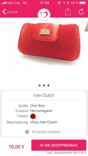 rote Clutch