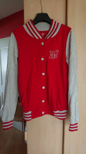 rote Collegejacke, Gr. 34