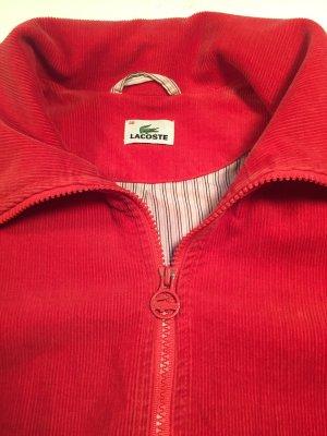 Rote Cord Kurzjacke von Lacoste