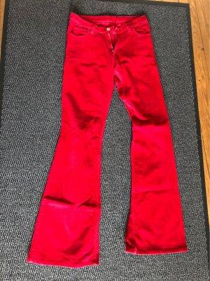 Seven seconds Pantalone di velluto a coste rosso scuro