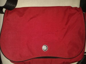 College Bag red-black synthetic fibre