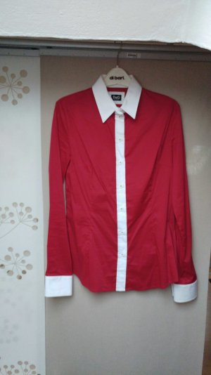 Rote D&G Business-Bluse