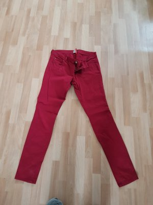 Drainpipe Trousers dark red-carmine