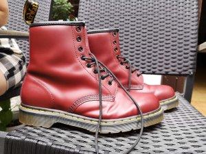 Combat Boots black-carmine