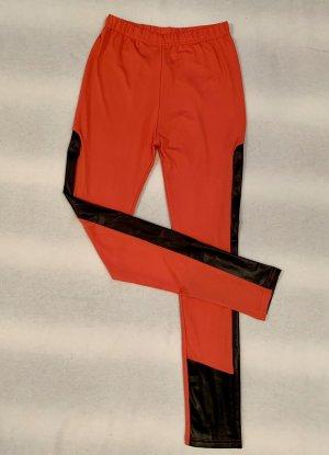 Leggings negro-rojo