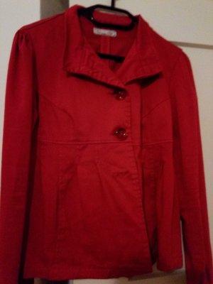 Infinitif Veste d'extérieur rouge foncé coton