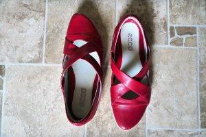 Rote Ecco Ballerinas