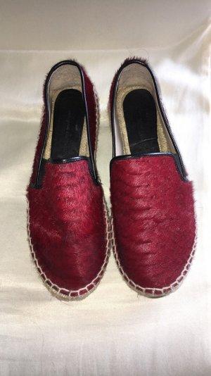 Zara Mocassins rouge carmin