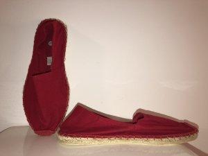 Espadrille Sandals dark red-red