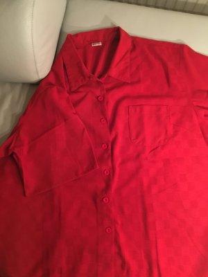 Rote gewebte Bluse, Gr. 52/54 wie NEU