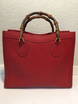 Rote Gucci Bamboo Henkeltasche - Vintage