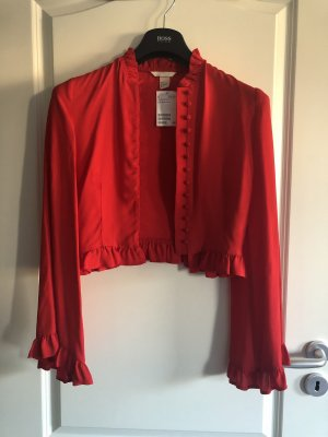 Rote H&M Bluse mit Tunika Ärmeln