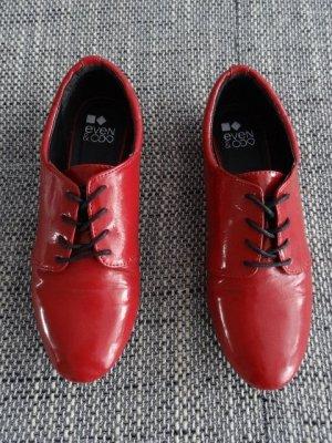 rote Halbschuhe, bequem, sportlich elegant
