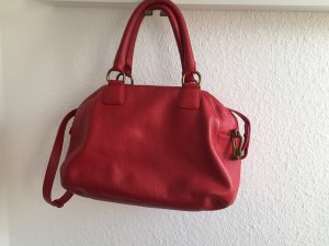 Rote  Handtasche aus Leder