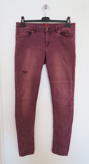 H&M Drainpipe Trousers multicolored cotton