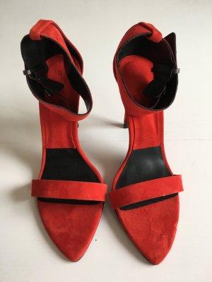 Rote High Heel Sandaletten Zara