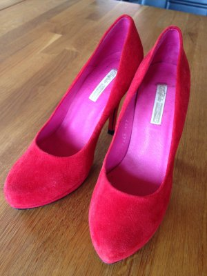 Rote High Heels Wildleder