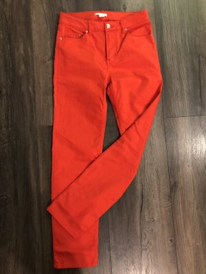 H&M Pantalon taille haute rouge