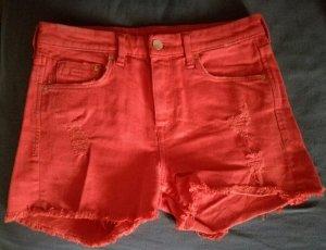 Rote High-Waist Hotpant von H&M Gr 34