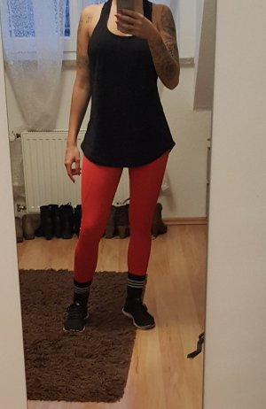 Rote high Waist Sporthose