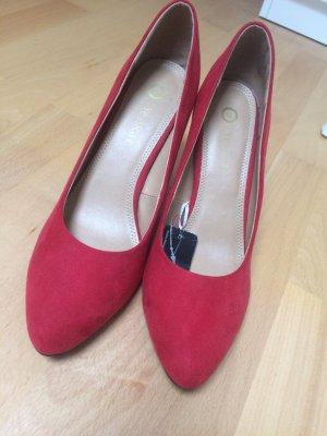 Rote highheels, Marke c&a