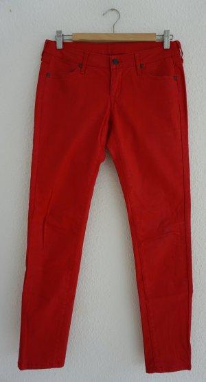 Rote Hose in Lederoptik in 36/38
